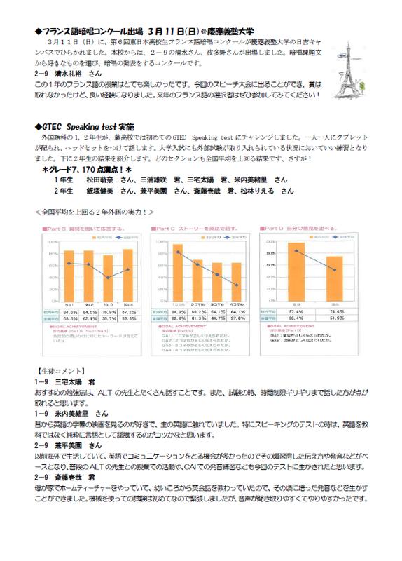 外国語科ニュース-平成29年度